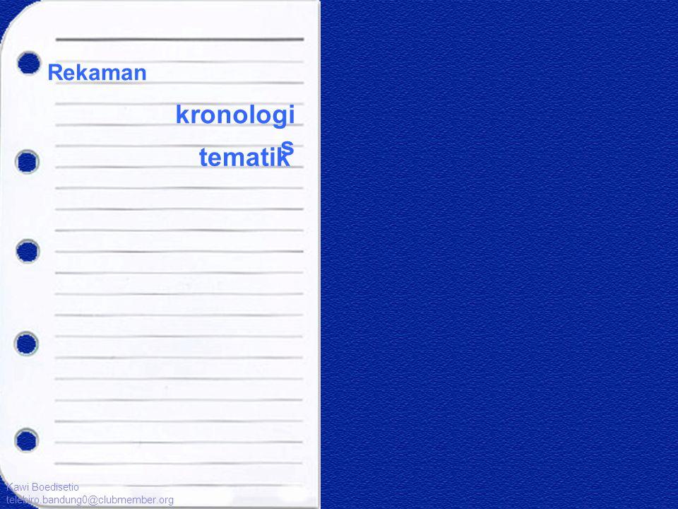 Rekaman kronologi s tematik Kawi Boedisetio telebiro.bandung0@clubmember.org