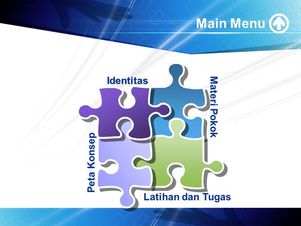 Main Menu Materi Pokok Peta Konsep Identitas Latihan dan Tugas