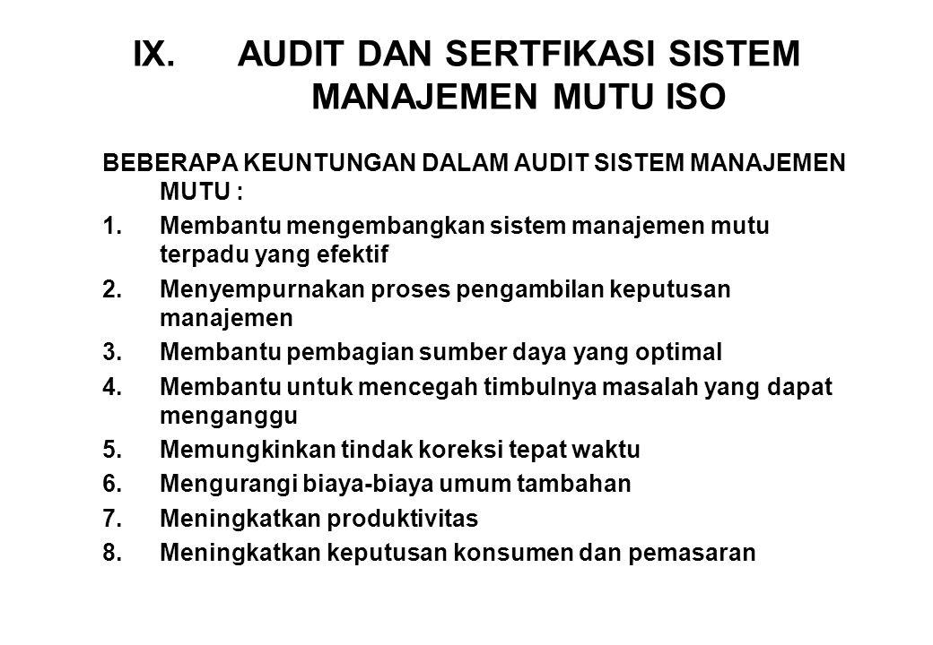 JENIS AUDIT SISTEM MANAJEMEN MUTU 1.AUDIT PIHAK PERTAMA ; audit yang dilakukan dalam suatu perusahaan untuk menentukan efektivitas dari penerapan sistem mutu yang mereka gunakan.