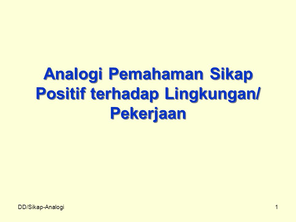 DD/Sikap-Analogi2 KISAH TENTANG WORTEL, TELUR DAN BIJI KOPI