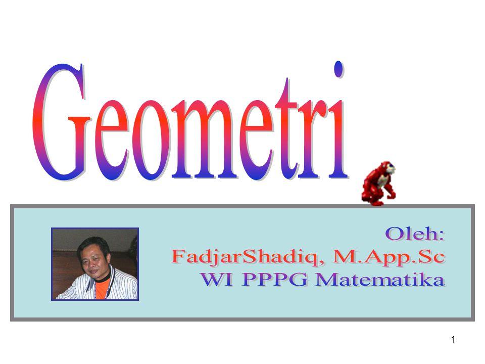 11 Petunjuk pembelajaran Geometri SD  Gunakan benda-benda konkret.