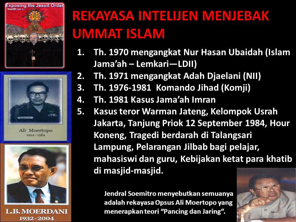 Ali murtopo soedomo Mbah to 1.Th. 1970 mengangkat Nur Hasan Ubaidah (Islam Jama'ah – Lemkari—LDII) 2.Th. 1971 mengangkat Adah Djaelani (NII) 3.Th. 197