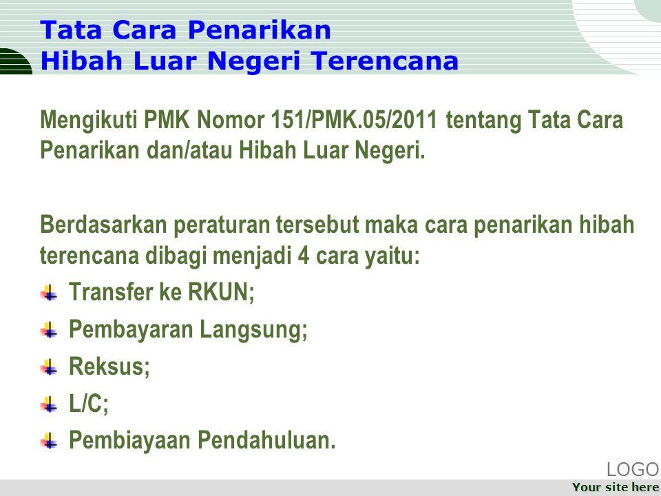 Tata Cara Penarikan Hibah Luar Negeri Terencana Mengikuti PMK Nomor 151/PMK.05/2011 tentang Tata Cara Penarikan dan/atau Hibah Luar Negeri.