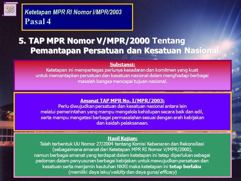 5.TAP MPR Nomor V/MPR/2000 5.