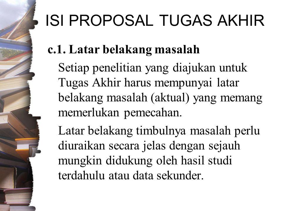 ISI PROPOSAL TUGAS AKHIR c.1.