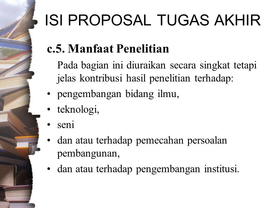 ISI PROPOSAL TUGAS AKHIR c.5.