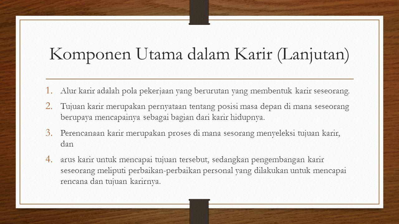 Komponen Utama dalam Karir (Lanjutan) 1.
