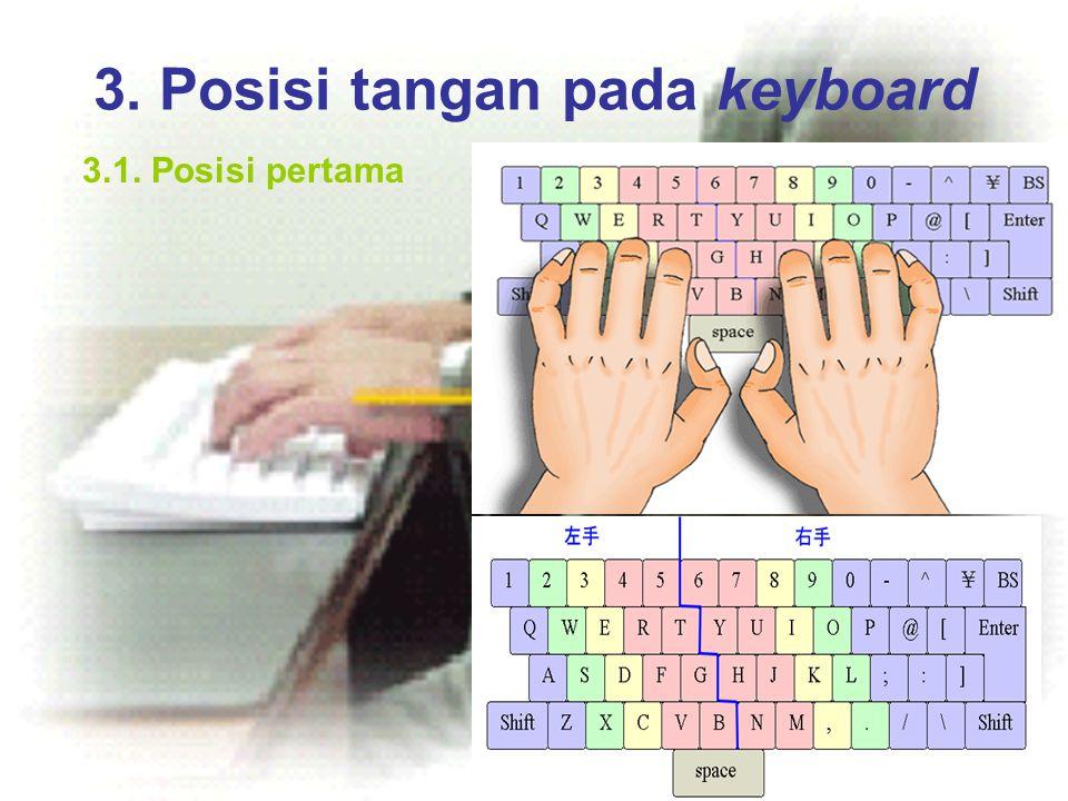 3. Posisi tangan pada keyboard 3.1. Posisi pertama