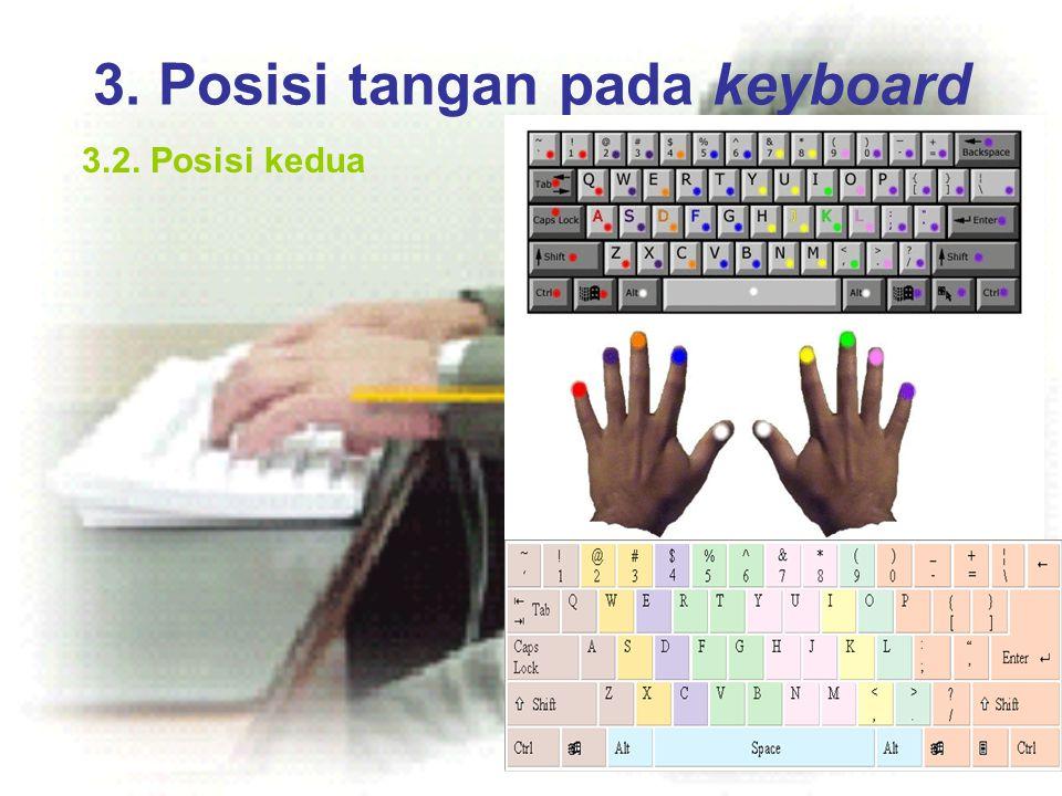 3. Posisi tangan pada keyboard 3.2. Posisi kedua