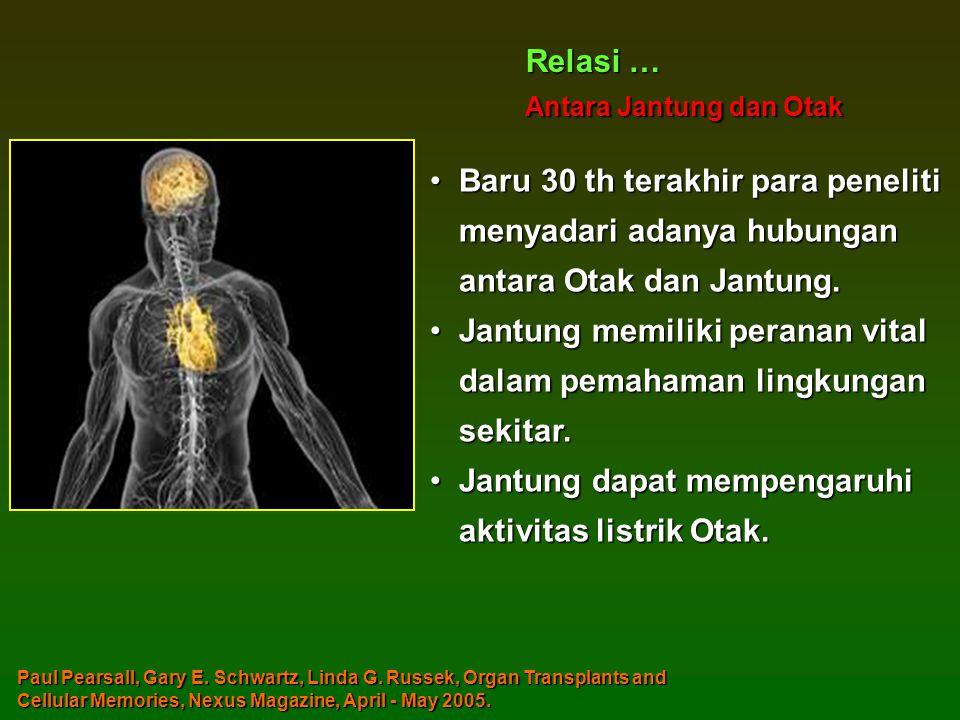 •Baru 30 th terakhir para peneliti menyadari adanya hubungan antara Otak dan Jantung.