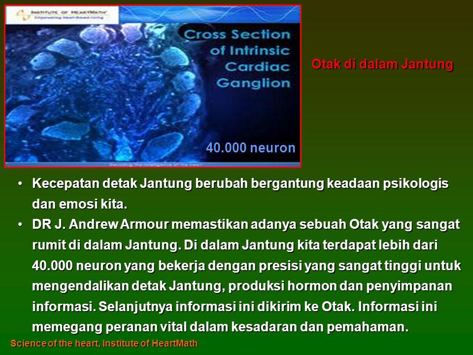 •Kecepatan detak Jantung berubah bergantung keadaan psikologis dan emosi kita.