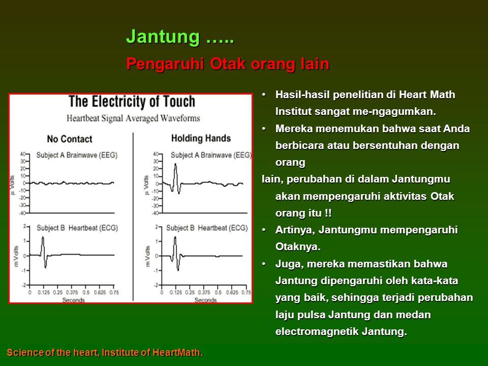 •Hasil-hasil penelitian di Heart Math Institut sangat me-ngagumkan.