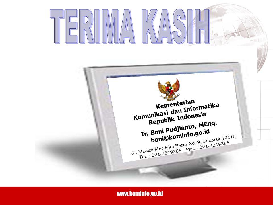 35 www.kominfo.go.id TERIMA KASIH Kementerian Komunikasi dan Informatika Republik Indonesia Ir.