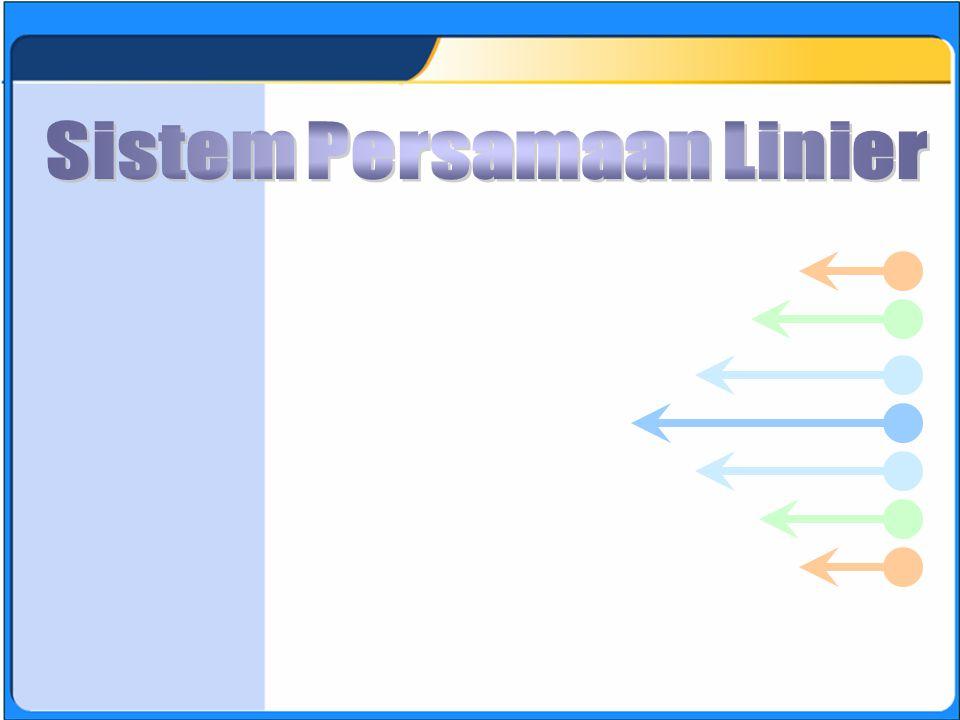 SISTEM PERSAMAAN LINEAR A.(1000,1004) B.(1001,1000) C.(1002,1004) D.(1000,1004).