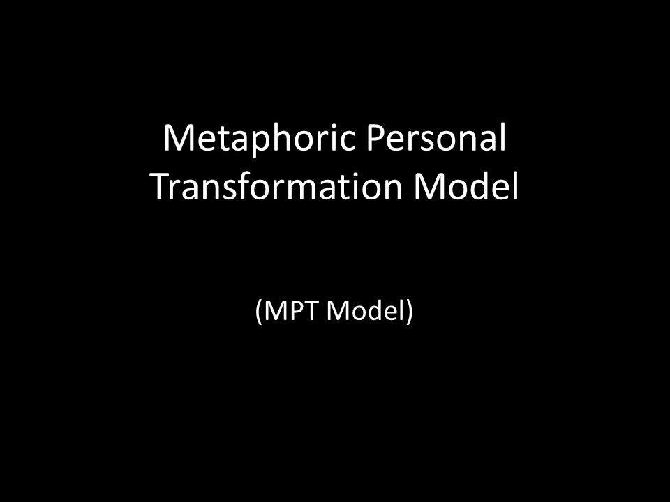 Metaphoric Personal Transformation Model (MPT Model)