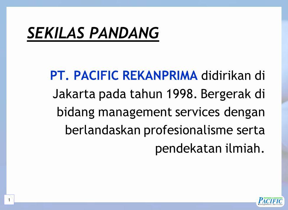 1 SEKILAS PANDANG PT.PACIFIC REKANPRIMA didirikan di Jakarta pada tahun 1998.