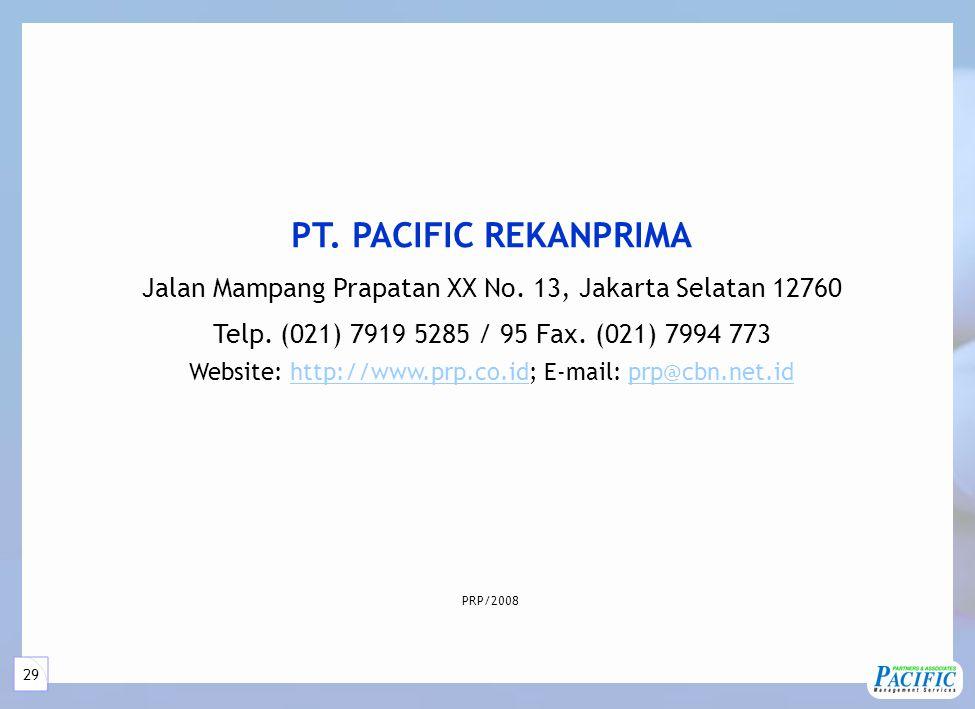 29 PT.PACIFIC REKANPRIMA Jalan Mampang Prapatan XX No.