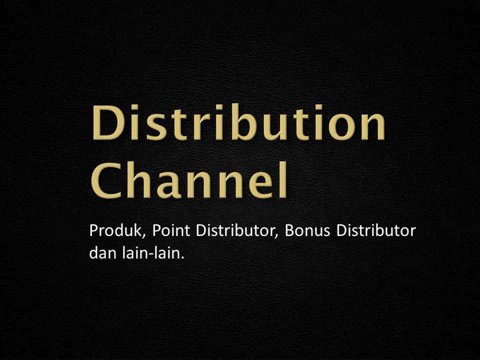 Produk, Point Distributor, Bonus Distributor dan lain-lain.