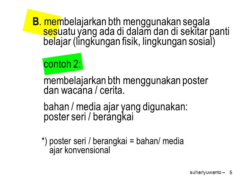 6 tema pembelajaran: kesehatan subtema: kesehatan diri dan keluarga media/ bahan ajar: gambar/poster gambar 1 suhariyuwanto –