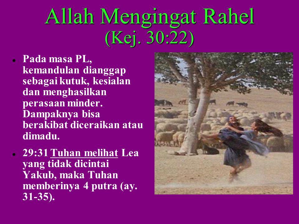 Allah Mengingat Rahel (Kej.