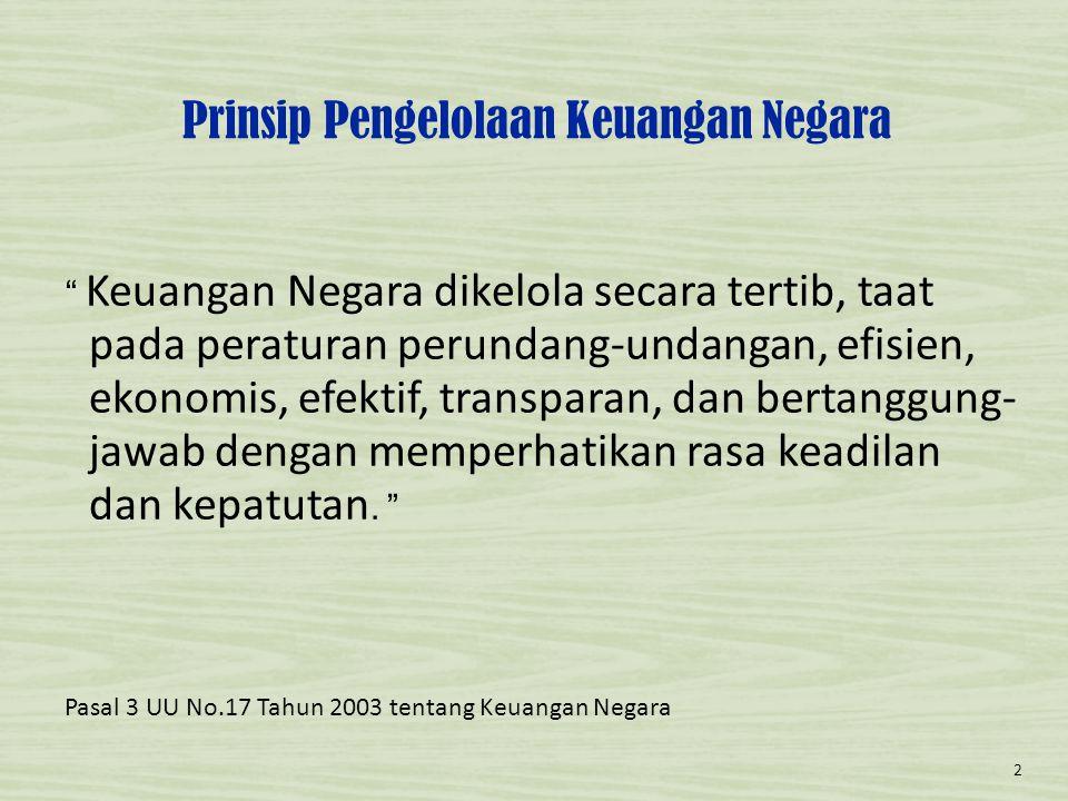 Aturan Terkait Dana Dekon & TP • UU No.17 Tahun 2003 tentang Keuangan Negara; • UU No.