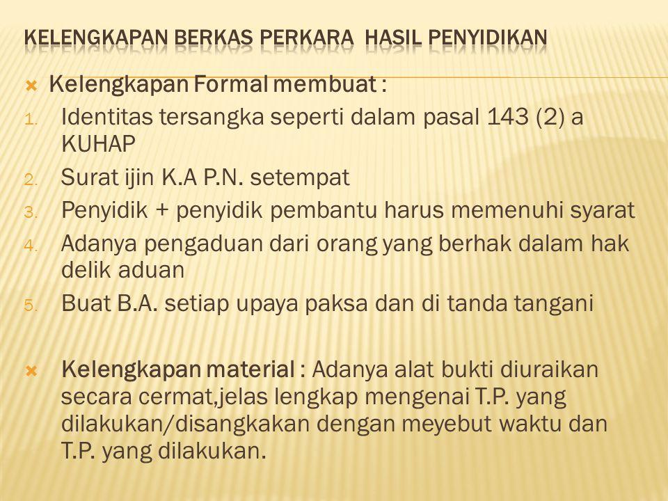 1.Kelengkapan B.A.