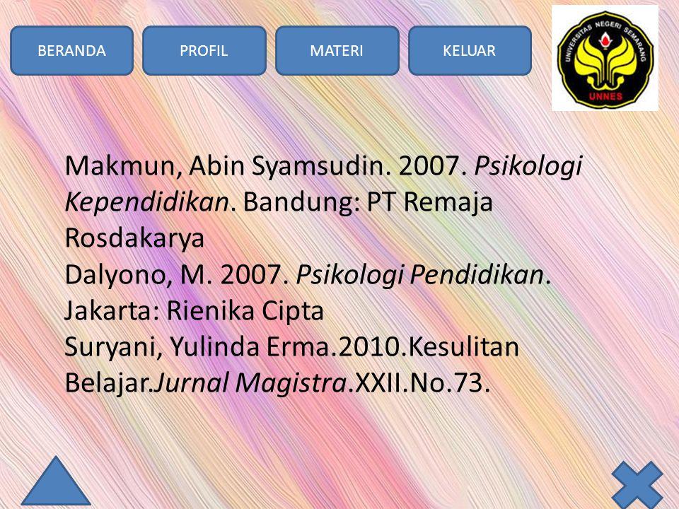 BERANDAPROFILMATERIKELUAR Makmun, Abin Syamsudin. 2007.