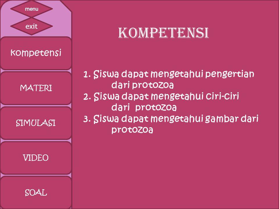 kompetensi MATERI SIMULASI VIDEO SOAL KOMPETENSI exit menu 1.