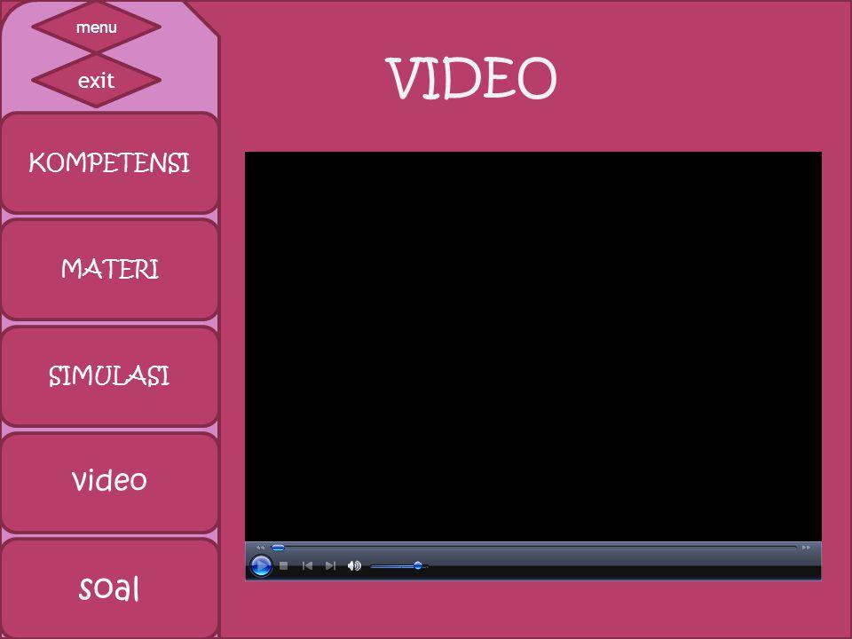 VIDEO KOMPETENSI MATERI SIMULASI video soal exit menu