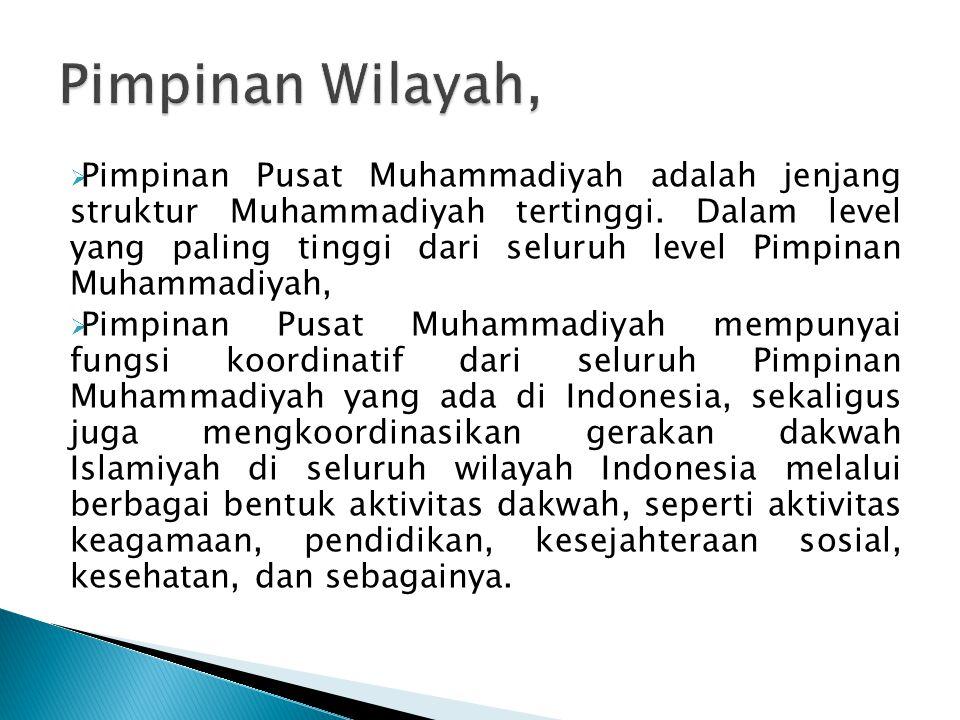  Pimpinan Pusat Muhammadiyah adalah jenjang struktur Muhammadiyah tertinggi. Dalam level yang paling tinggi dari seluruh level Pimpinan Muhammadiyah,