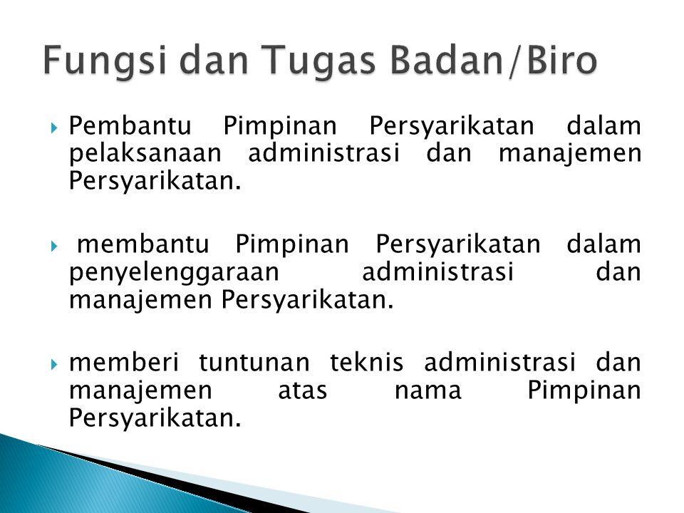  Berdasarkan garis besar program, Lembaga ini mempunyai tugas pokok antara lain 1.