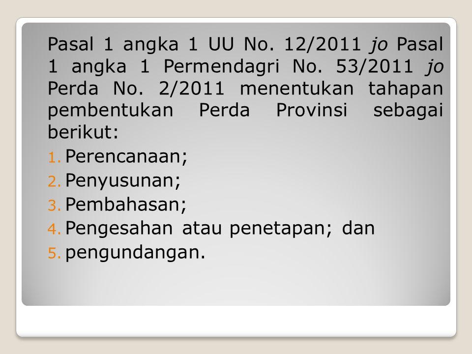 Pasal 1 angka 1 UU No.12/2011 jo Pasal 1 angka 1 Permendagri No.
