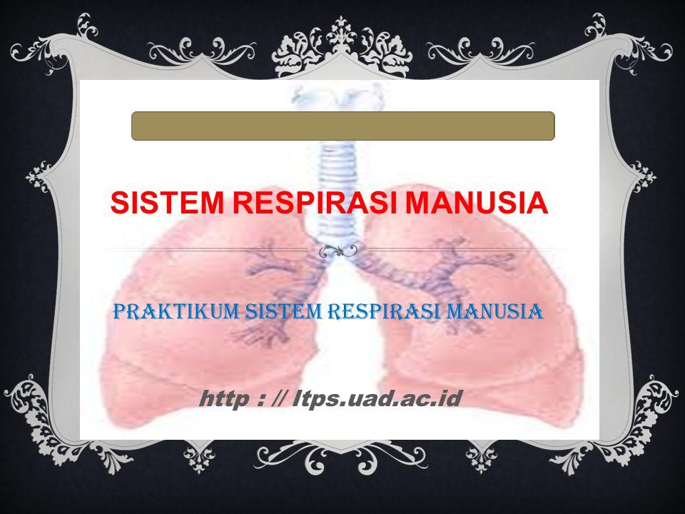  Respirasi (pernafasan) adalah proses pengambilan gas oksigen dari lingkungan dan pengeluaran karbon dioksida dari dalam tubuh makhluk hidup.