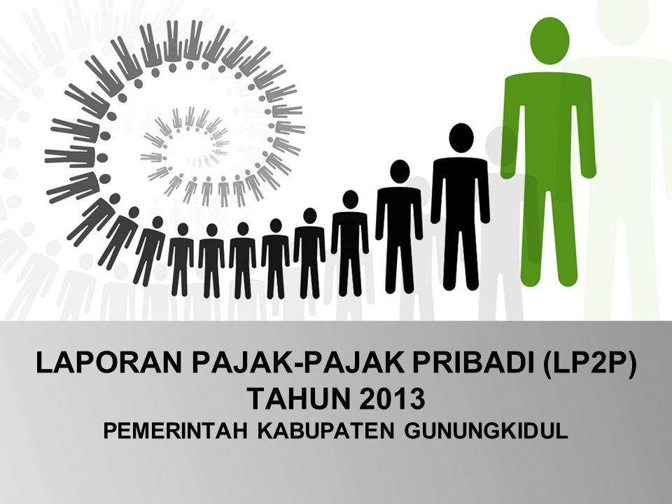LAPORAN PAJAK-PAJAK PRIBADI (LP2P) TAHUN 2013 PEMERINTAH KABUPATEN GUNUNGKIDUL