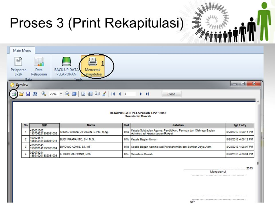 Proses 3 (Print Rekapitulasi)