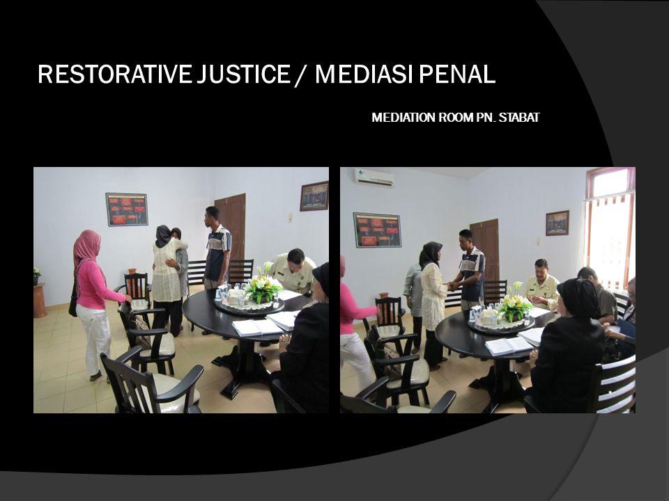 RESTORATIVE JUSTICE / MEDIASI PENAL MEDIATION ROOM PN. STABAT