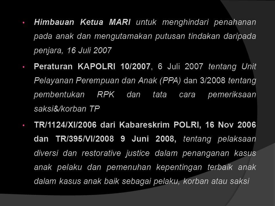  MOU 20/PRS-2/KEP/2005 DitBinRehSos Depsos RI dan DitPas DepkumHAM RI tentang pembinaan luar lembaga bagi anak yang berhadapan dengan hukum  Surat E