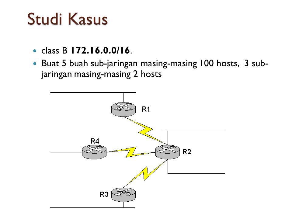 Studi Kasus  class B 172.16.0.0/16.