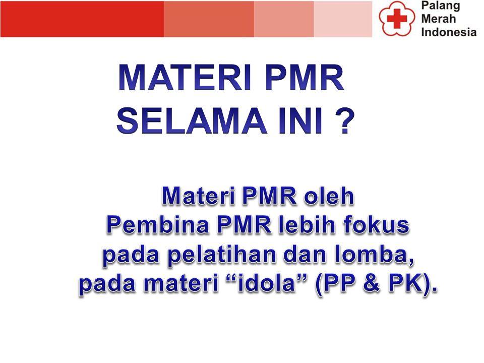 Anggota PMR adalah anggota remaja berusia 10 – 17 tahun dan atau belum menikah, yang mendaftarkan diri dan terdaftar dalam kelompok PMR