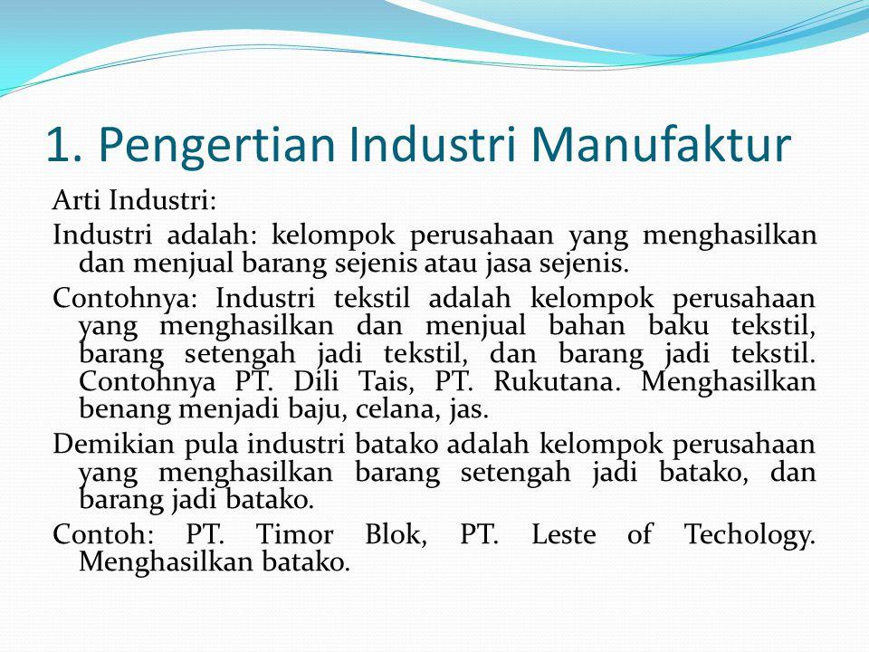 Setelah mempelajari bab ini diharapkan anda mampu menjelaskan tentang arti: 1. Jenis Industri 2. Manufaktur dan Proses Produksi 3. Manajemen Produksi