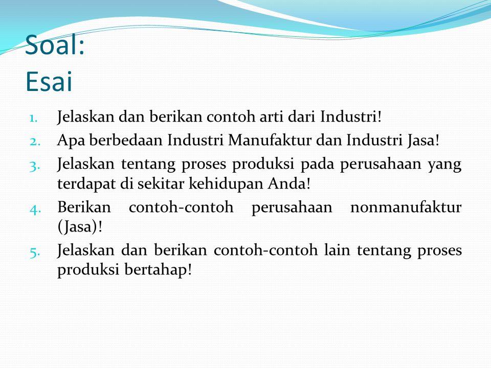 Resume Industri merupakan kelompok perusahaan-perusahaan yang menghasilkan produk (barang dan jasa) yang sejenis. Misalnya industri batako terdiri dar