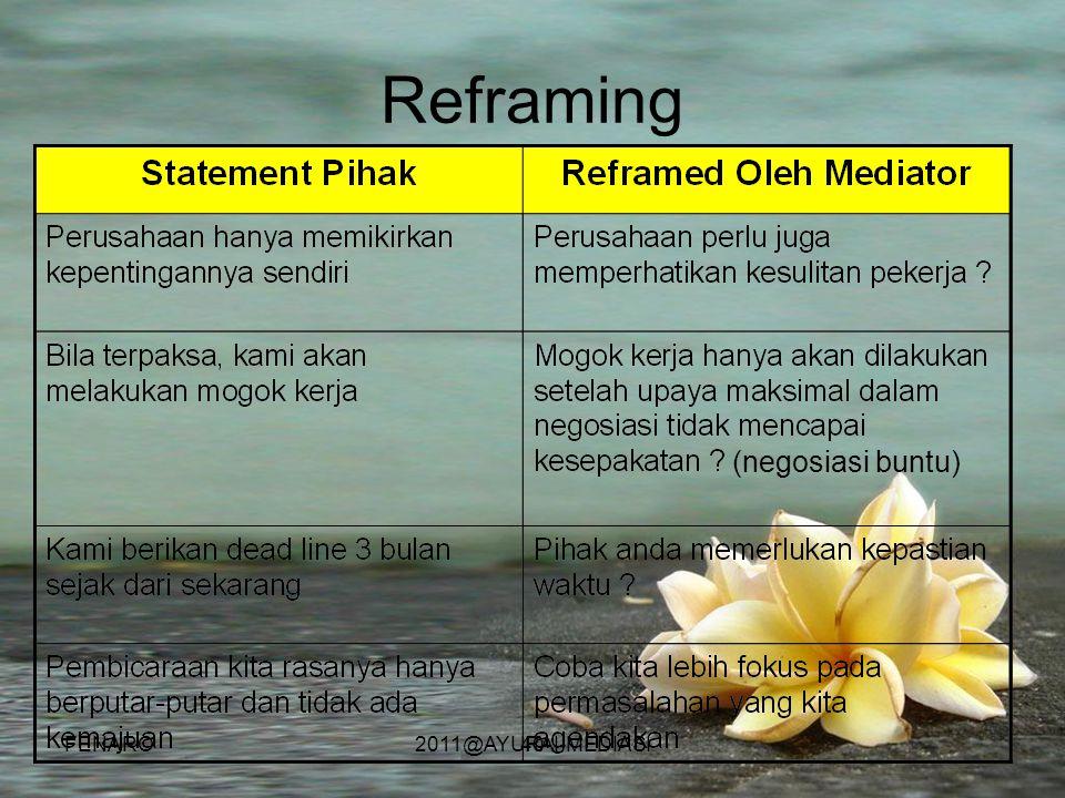 40 Reframing (negosiasi buntu) FENARO2011@AYURAI-MEDIASI