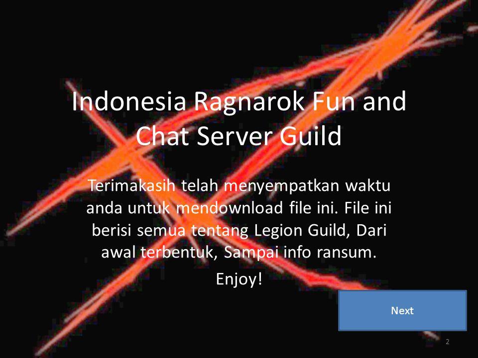 Indonesia Ragnarok Fun and Chat Server Guild Terimakasih telah menyempatkan waktu anda untuk mendownload file ini.