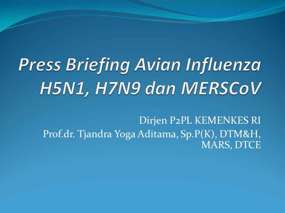 Dirjen P2PL KEMENKES RI Prof.dr. Tjandra Yoga Aditama, Sp.P(K), DTM&H, MARS, DTCE