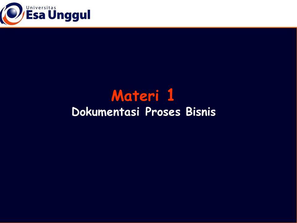 Materi 1 Dokumentasi Proses Bisnis