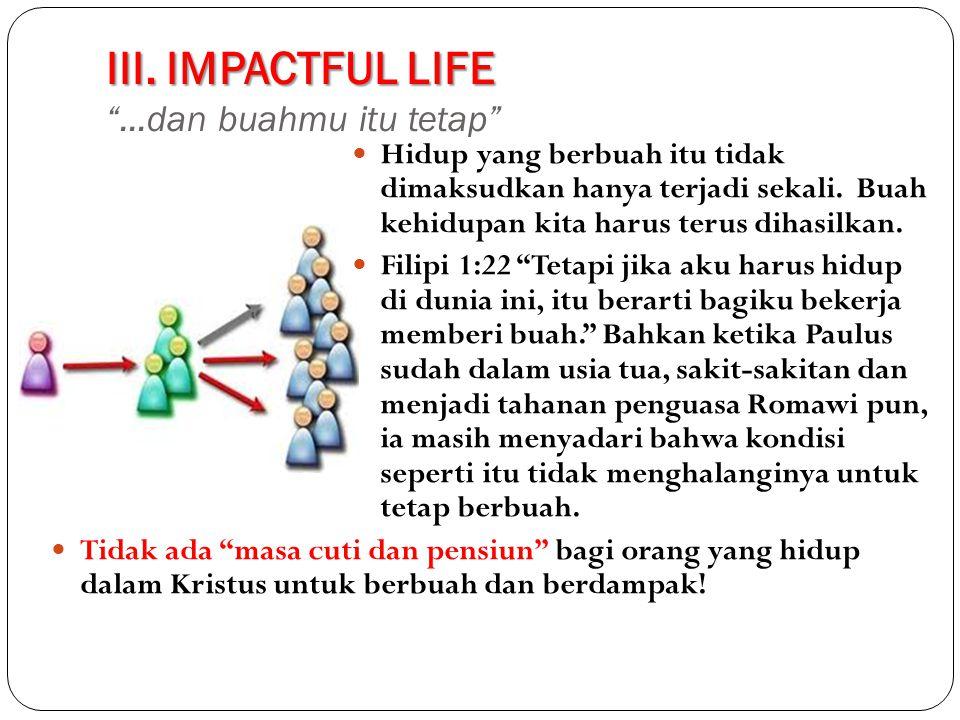 III.IMPACTFUL LIFE III.