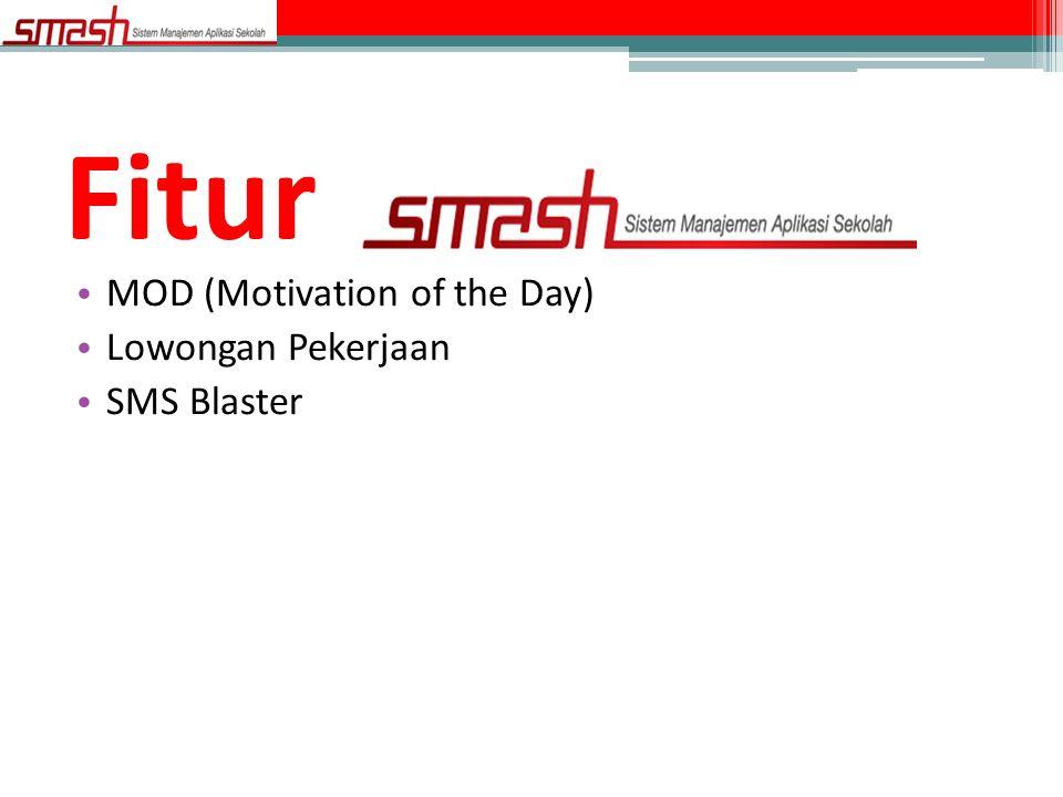 • MOD (Motivation of the Day) • Lowongan Pekerjaan • SMS Blaster Fitur