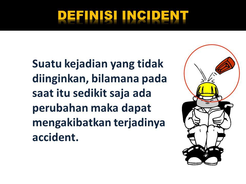 Suatu kejadian yang tidak diinginkan, bilamana pada saat itu sedikit saja ada perubahan maka dapat mengakibatkan terjadinya accident.
