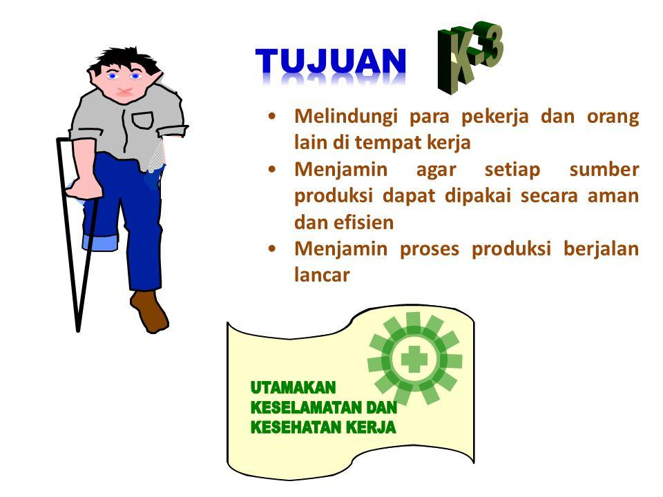SAFETY VEST (ROMPI PENGAMAN) • Alat untuk melindungi dari bahaya tertabrak lalu lintas, atau peralatan • Tidak bisa melindungi sepenuhnya, karena pemakai bisa terlihat dari kejauhan secara mencolok • SAFETY BOOT (SEPATU PENGAMAN) • Alat untuk melindungi dari bahaya kejatuhan/terantuKkbenda keras pada bagian kaki • SAFETY HELM (TOPI PENGAMAN) • Alat untuk melindungi dari bahaya kejatuhan/terantuKkbenda keras pada bagian kepala