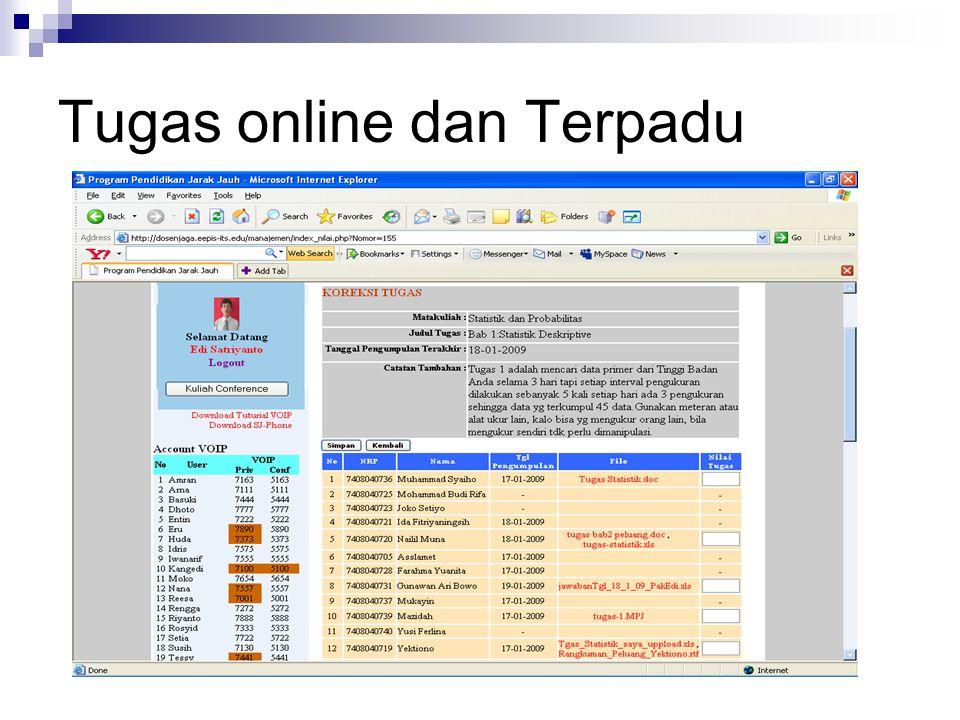 Tugas online dan Terpadu